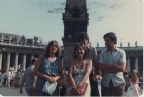 Kate, Robert, Janis & Norman Whalley in Rome in 1980