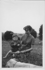 Janis Whalley ((ne Brown) and her eldest son Robert in 1965