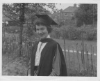 Janis Brown with cap and gown 1958